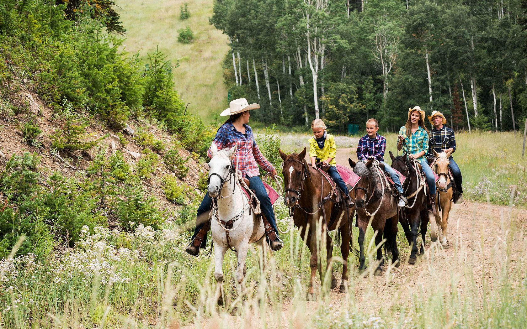 Children Horseback Riding