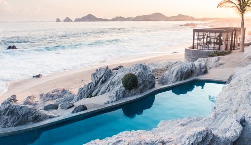 Saltwater pool overlooking El Arco