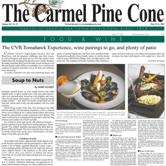 Carmel Pine Cone May 25 2018