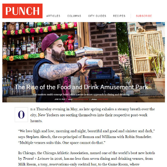 PUNCH: The Rise of the Food and Drink Amusement Park