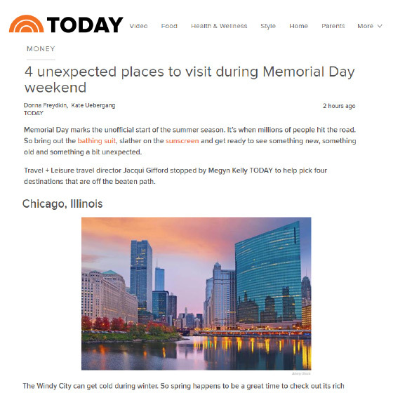 Today.com: 4 Unexpected Places to Visit During Memorial Day Weekend