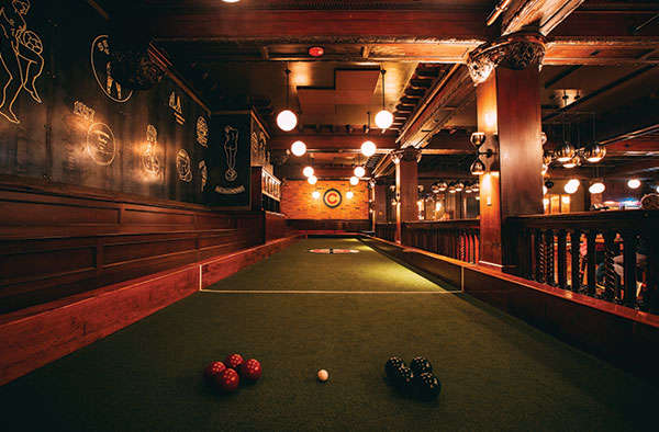 Chicago's playground includes a bocce court, pool, foosball and drinks curated by Paul McGee of Land and Sea Dept.