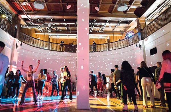 Rent a roller rink this christmas for a creative holiday party!