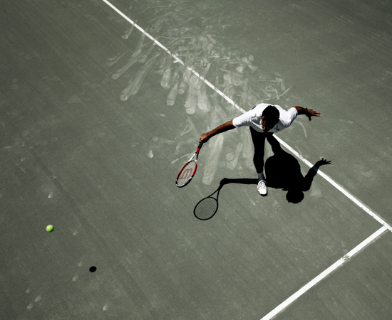 Carmel Valley Ranch_Activities_Tennis_aerial of tennis player on court