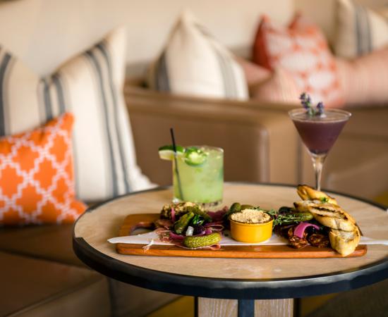 Carmel Valley Ranch_Dining_Valley Kitchen_appetizerand drinks