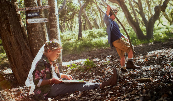 Carmel Valley Ranch_Lifestyle_Play_boy and girl_Fairy Forest Trees_2797-2_GJ