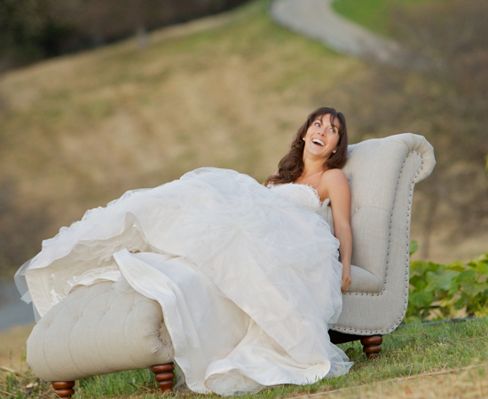 Carmel Valley Ranch_Lifestyle_Weddings_bride on chaise in organic garden