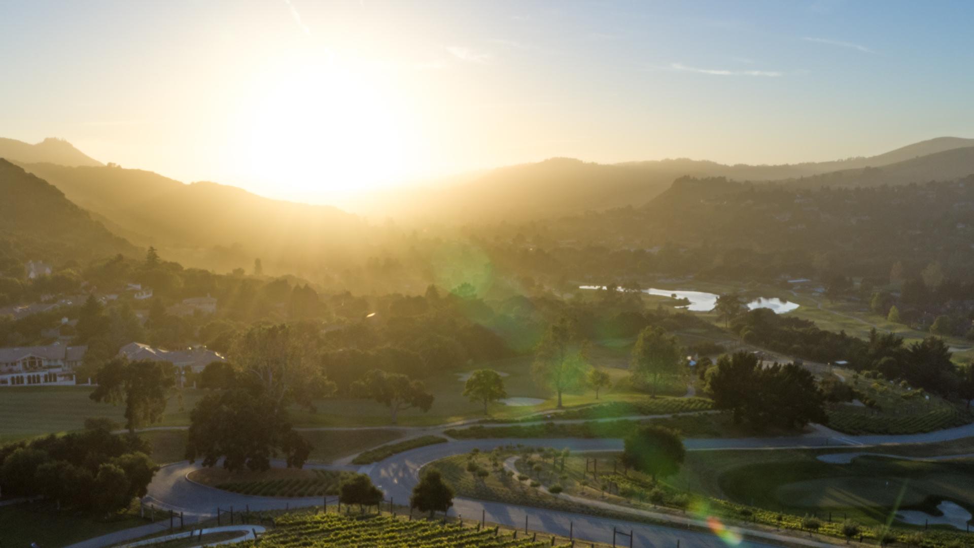 Carmel Valley Ranch_Property_Aerial_Vineyard facing west-LG Drone 20