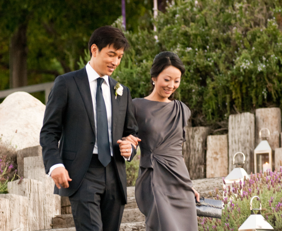 Carmel Valley Ranch_Weddings_couple walking down steps to Valley View Lawn