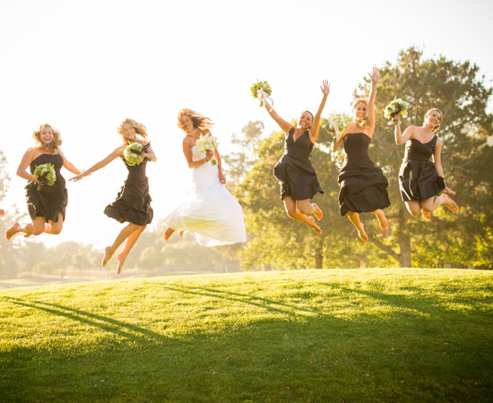 Carmel Valley Ranch_Weddings_jumping bridal party