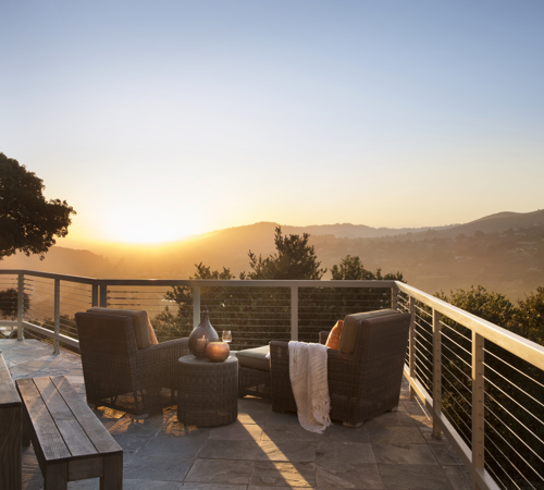 Carmel Valley Ranch_Accommodations_Carmel Suite_wrap around deck_sunset_08_PD