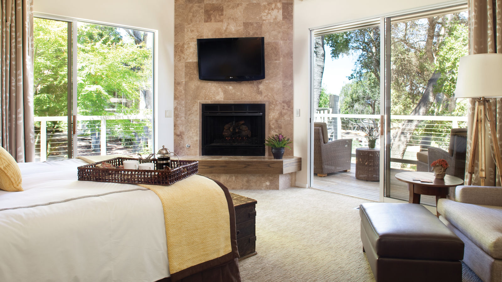 Carmel Valley Ranch_Accommodations_Garland Suite_Bedroom