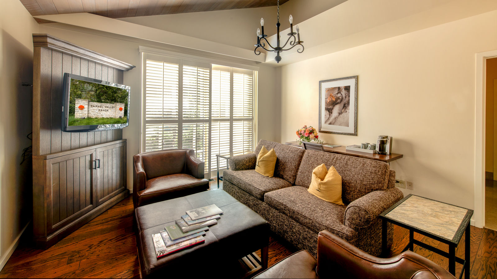 Carmel Valley Ranch_Accommodations_Live Oak Suite_Living Room_back