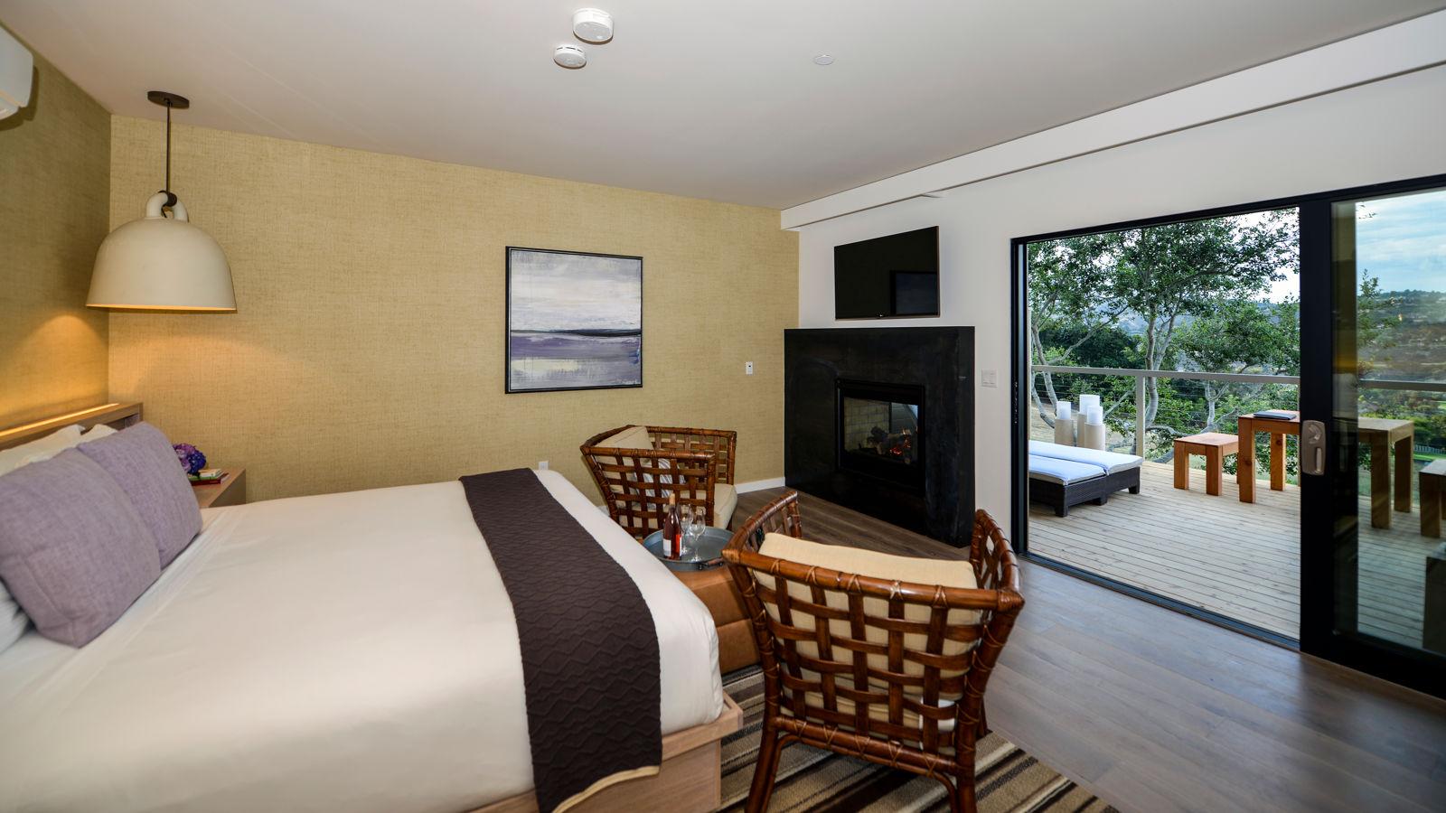 Carmel Valley Ranch_Accommodations_Vineyard Oak Studio_BR view