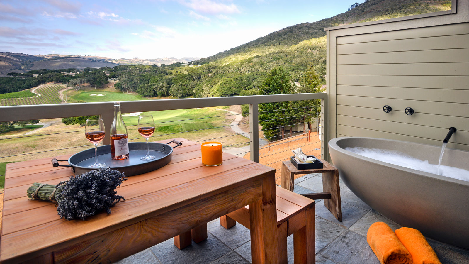 Carmel Valley Ranch_Accommodations_Vineyard Suite_Decktub