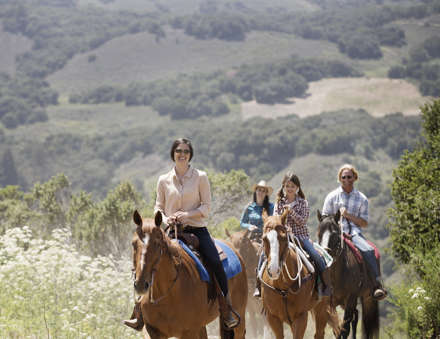 Carmel Valley Ranch_Activities_Horses_trailride family