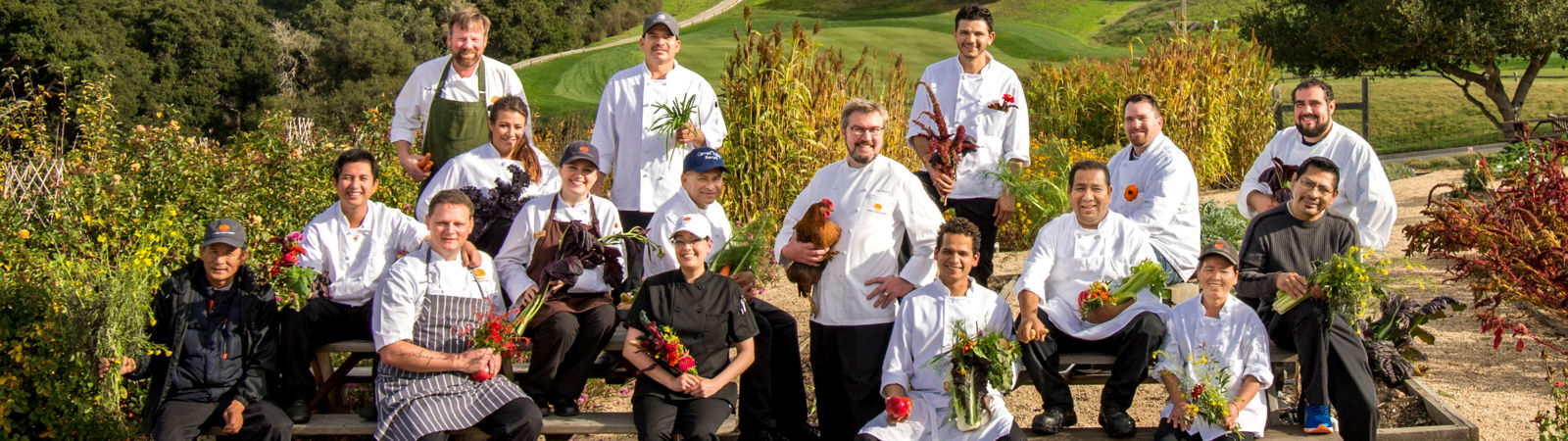 Carmel Valley Ranch_Dining_all chefs in the organic garden
