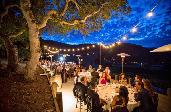 Carmel Valley Ranch_Events_Harvest Landing party with string lights