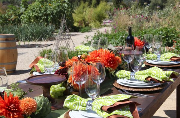 Carmel Valley Ranch_Events_Organic Garden table setting