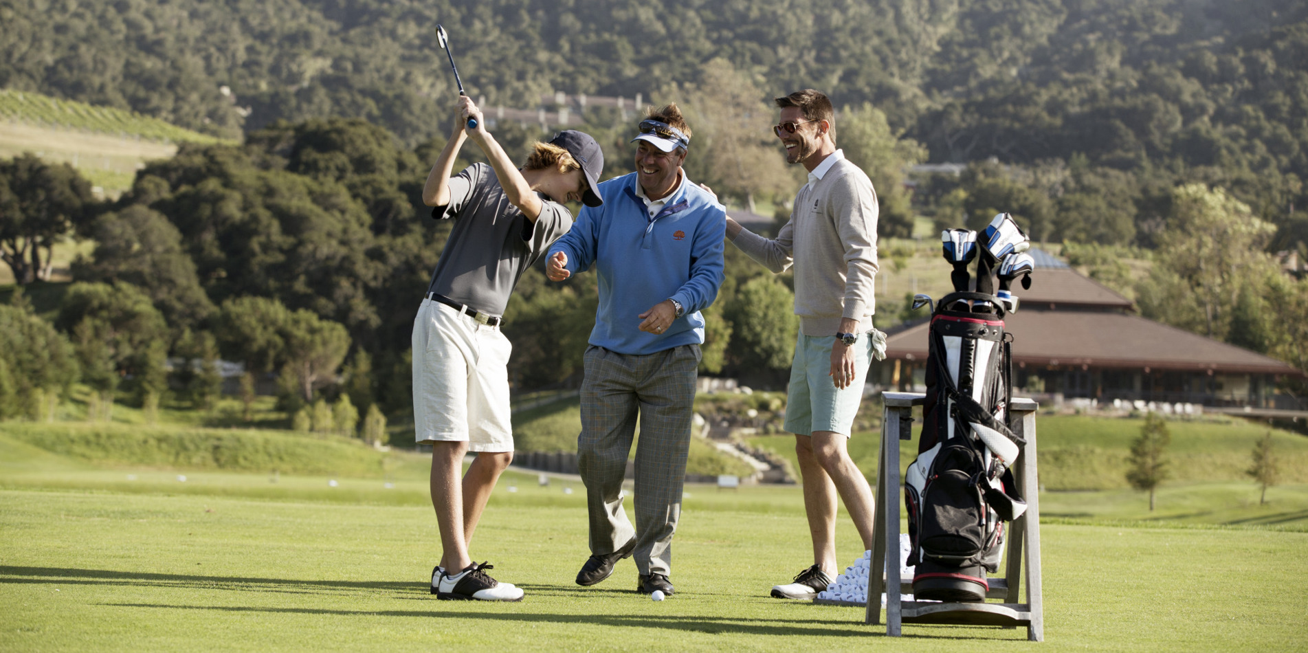 Carmel Valley Ranch_Golf_guys on course having fun