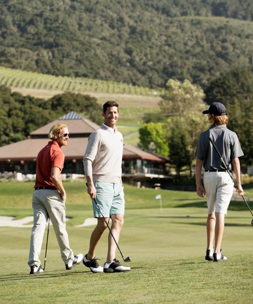 Carmel Valley Ranch_Golf_guys playing golf vertical