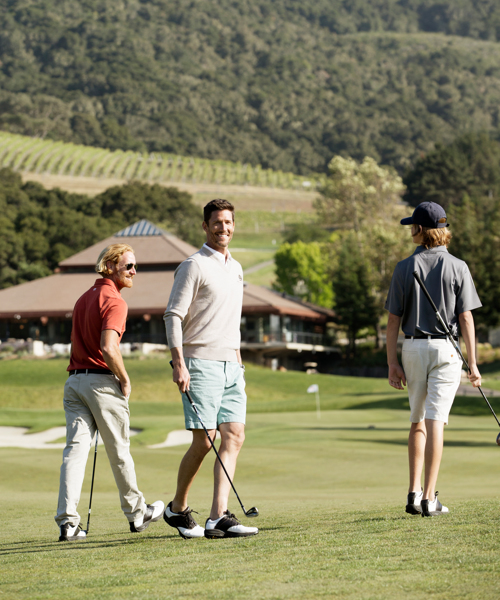 Carmel Valley Ranch_Golf_guys playing golf vertical