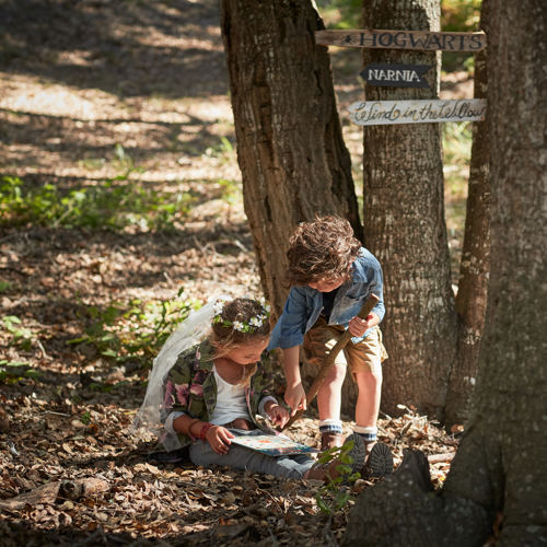 Carmel Valley Ranch_Lifestyle_Play_boy and girl_Fairy Forest Trees_2490_GJ