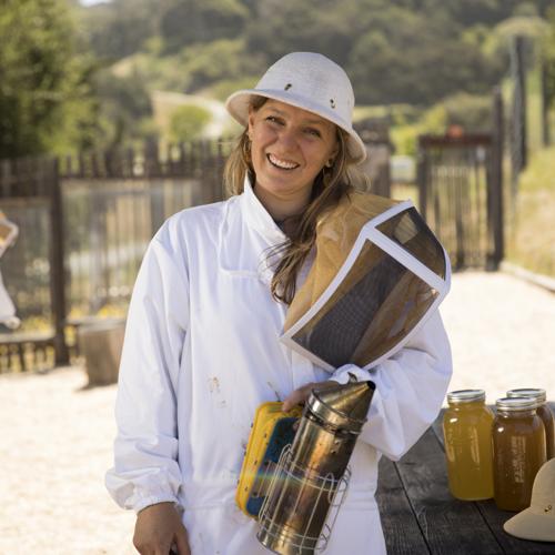 Carmel Valley Ranch_Organic Garden_Apiary_bee keeper_Mariah_45_PD