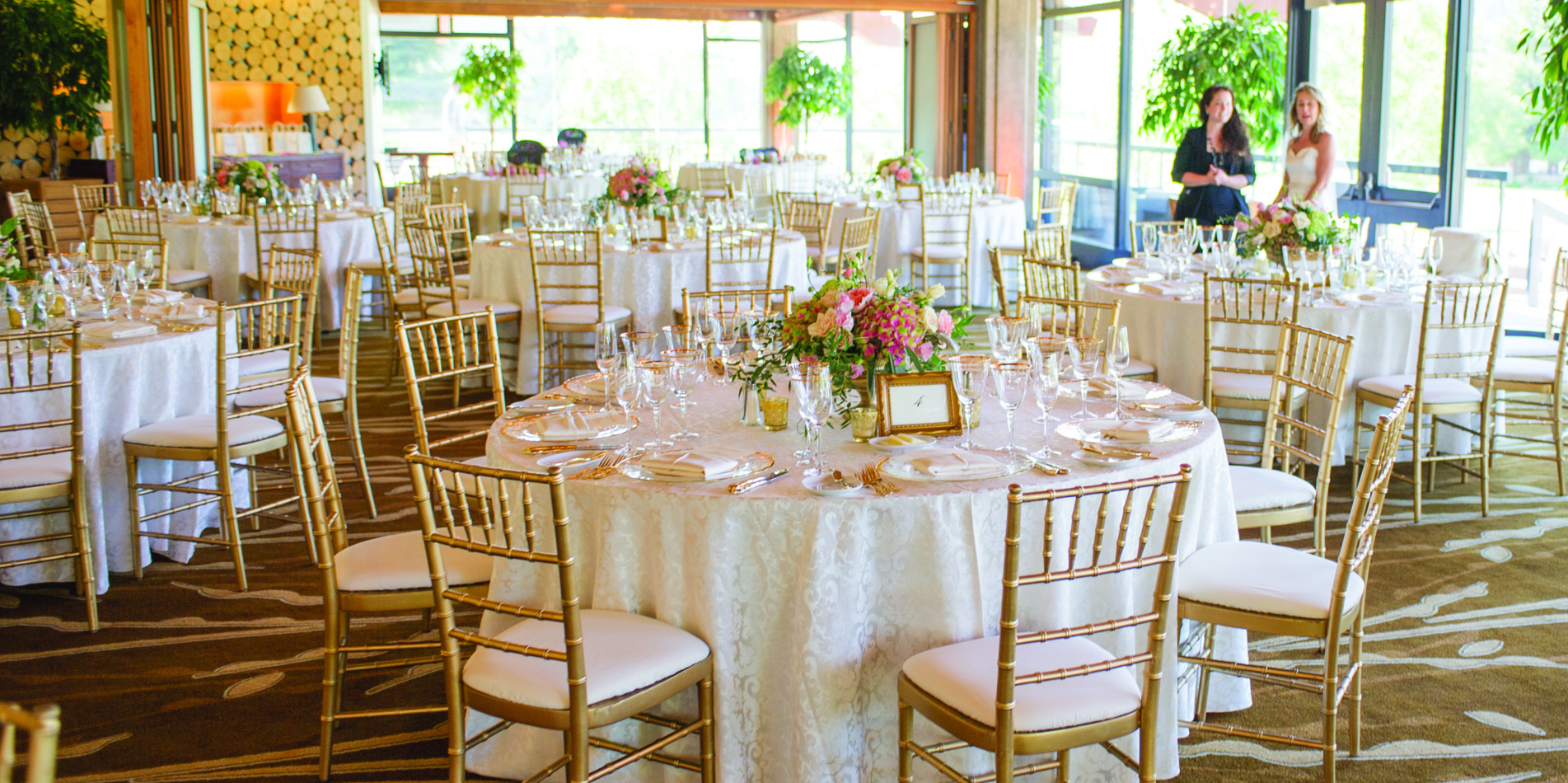 Carmel Valley Ranch_Weddings_clubhouse setup in rounds