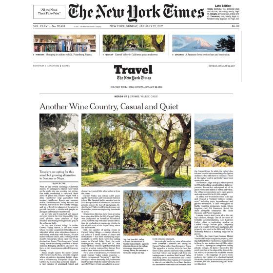 NEW YORK TIMES - JANUARY 22, 2017