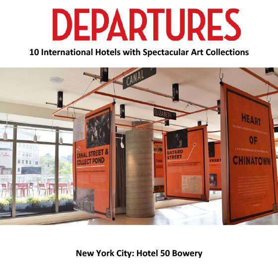 Departures: 10 International Hotels with Spectacular Art Collections