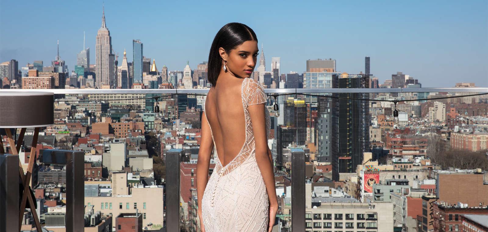 Hotel 50 Bowery_Justin Alexander Shoot 2018_Bride in Dress Turning Head
