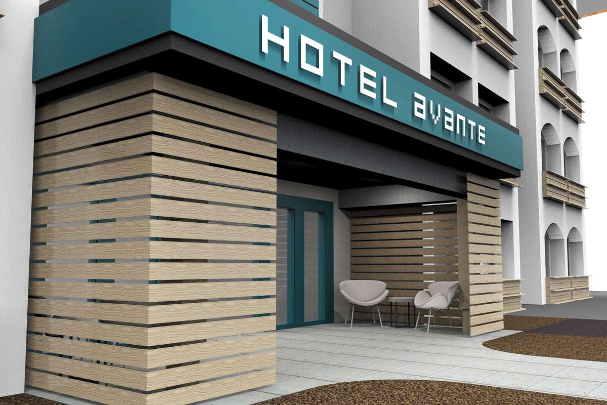 Hotel Avante_Exterior_Renovation Rendering 1