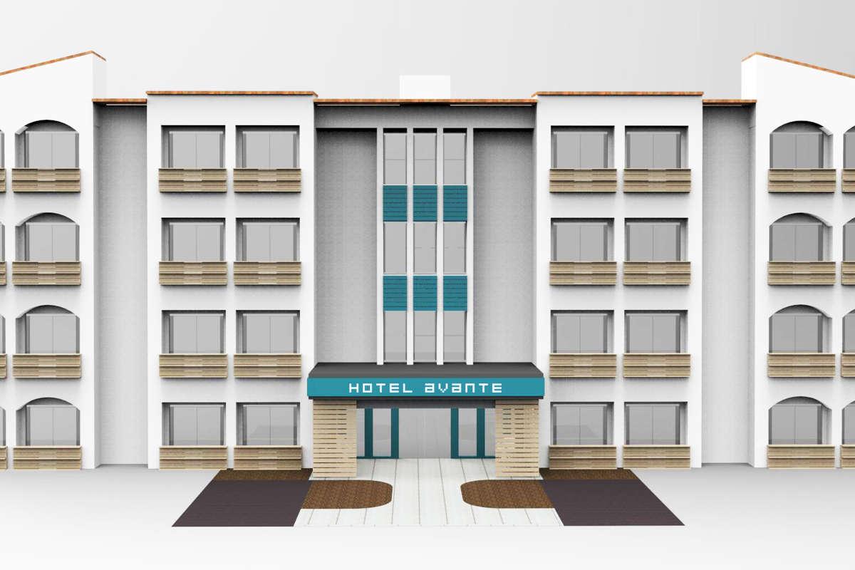 Hotel Avante_Exterior_Renovation Rendering 2