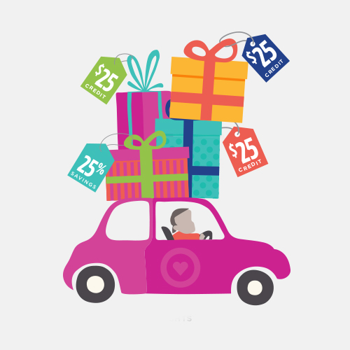 JdV Fall Campaign Promotional Image Car with Gifts