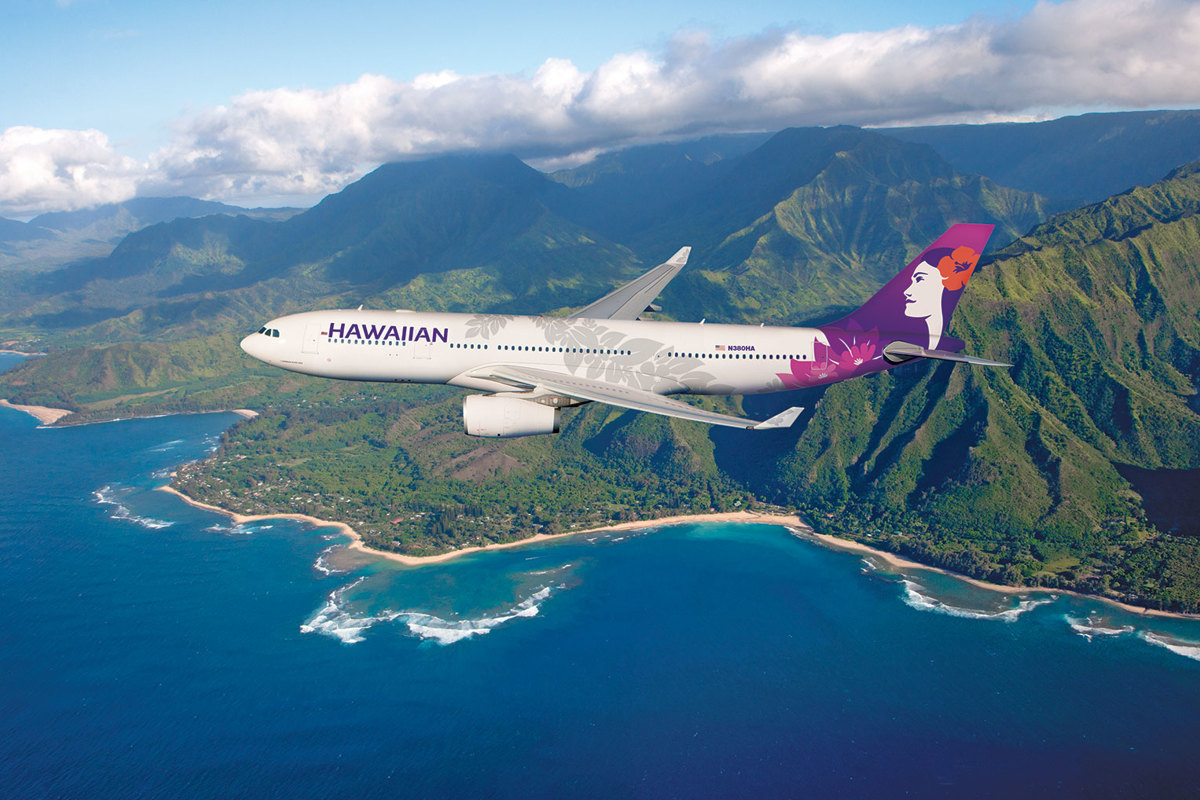 Hawaiian Airplane Flying