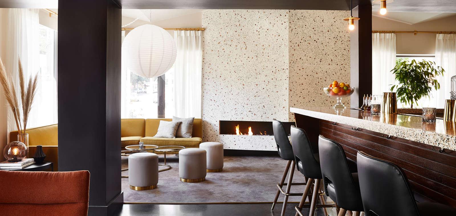 Interior of Laureate Bar & Lounge