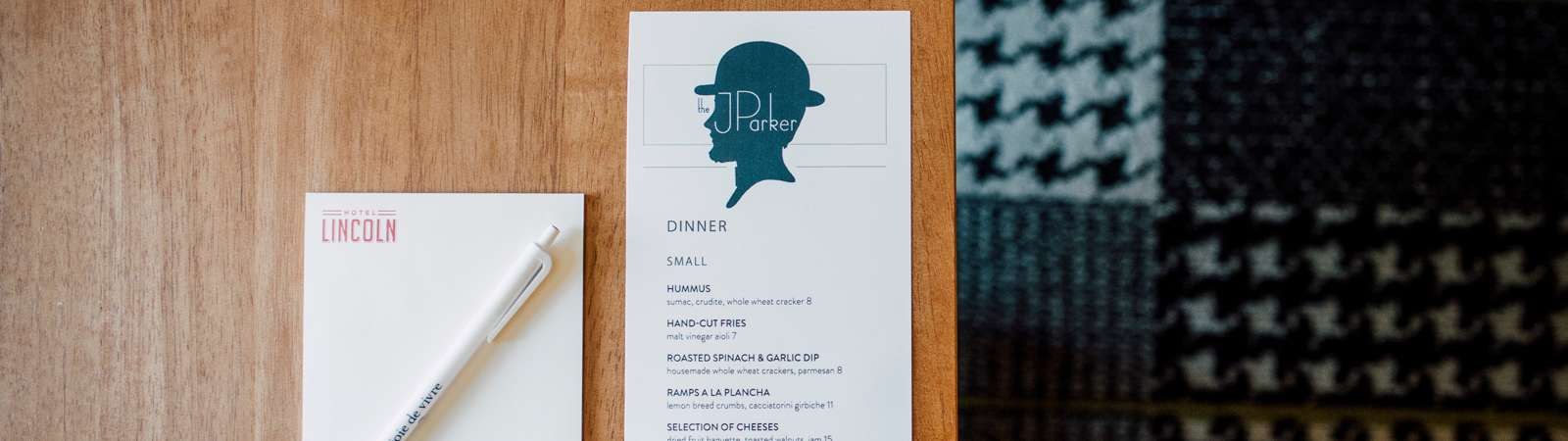 Desk Notepad Menu