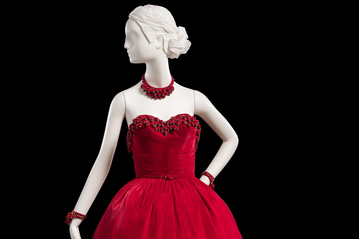 Statuette in a Red Dress