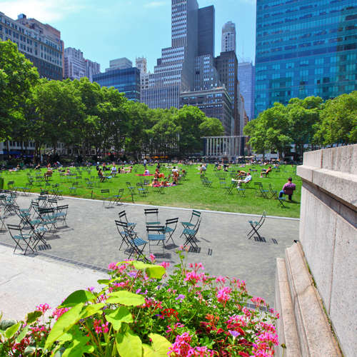 Folding Chairs In New York City Park