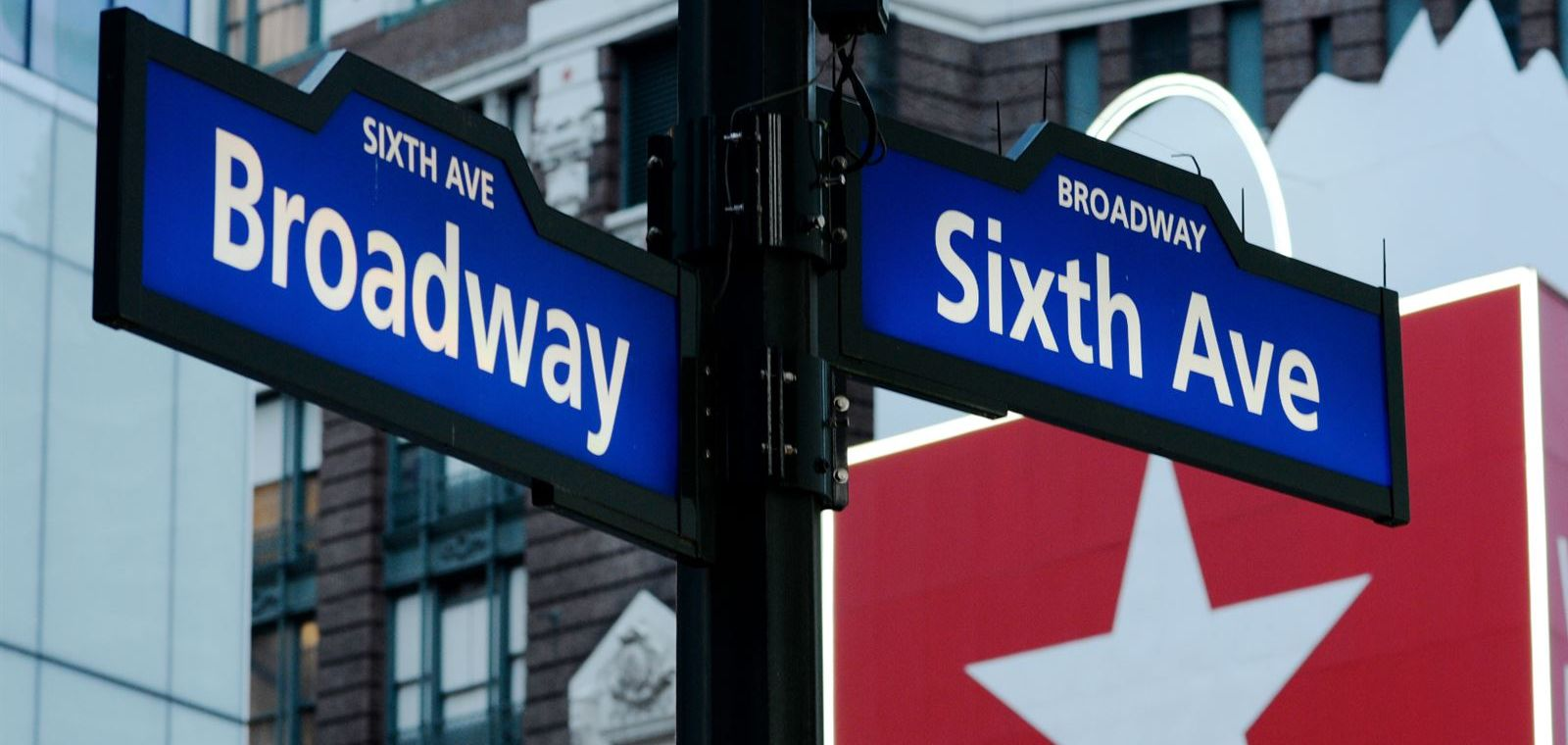 Street Signs For Broadway And Sixth Avenue