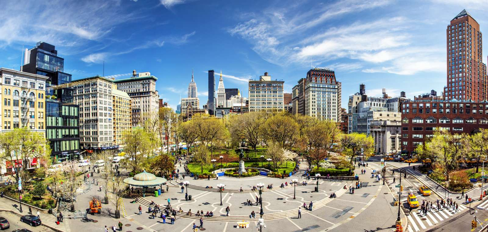 View Of Union Square In New York City