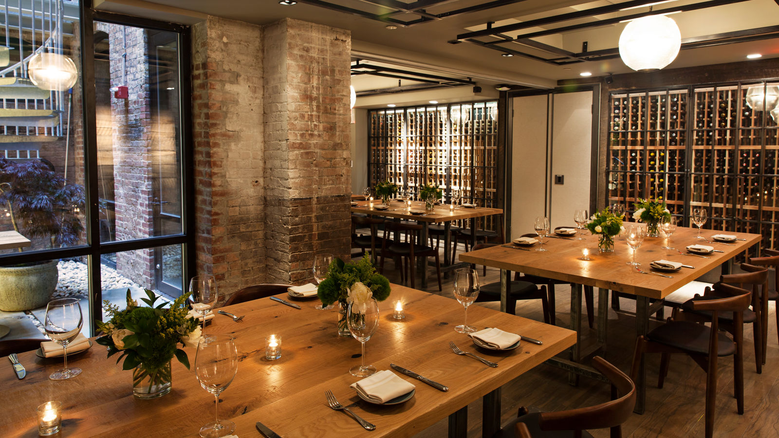 Private Dining Room With Three Set Tables
