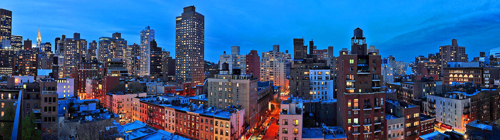 Panoramic Views Of New York City From Hotel Rooftop