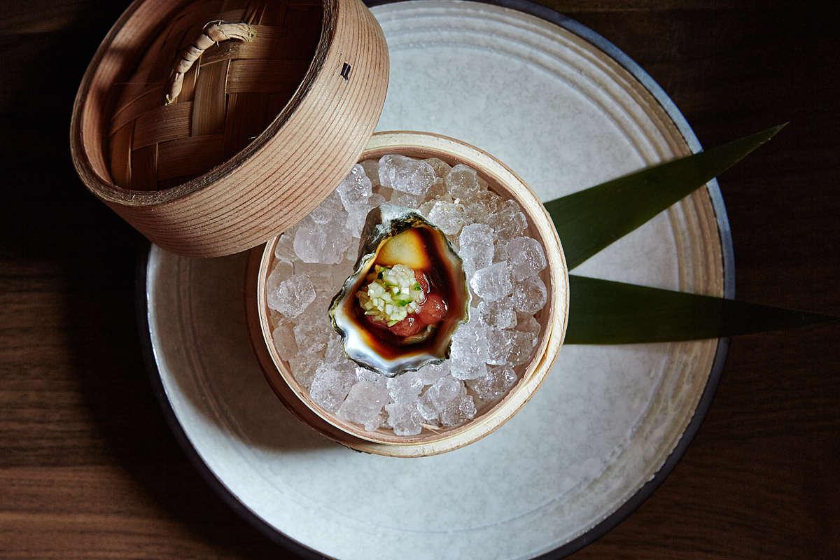Park South_Dining_OyaKumamoto Oyster Sashimi by Gentl & Hyers