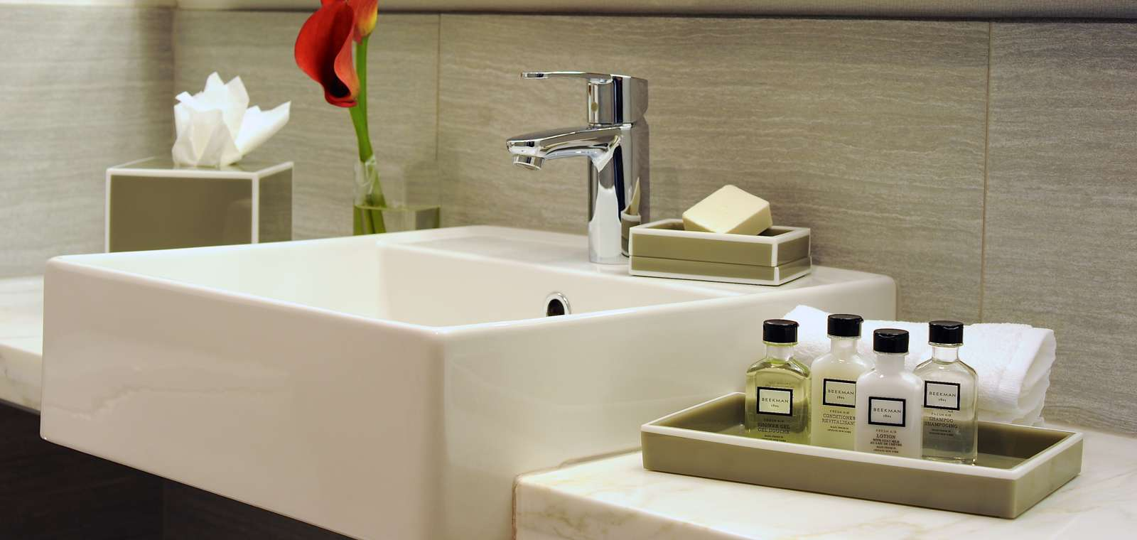 Bathroom Sink In Executive Guestroom
