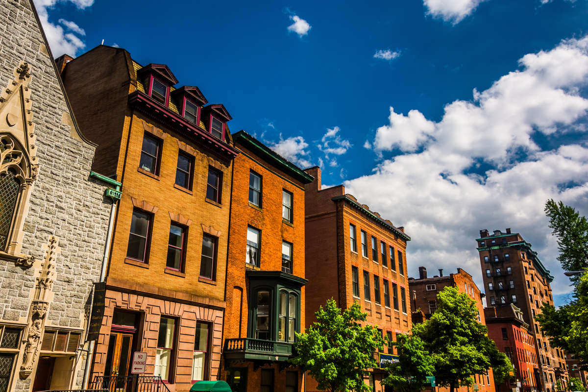 Charming homes and businesses in Mount Vernon Baltimore