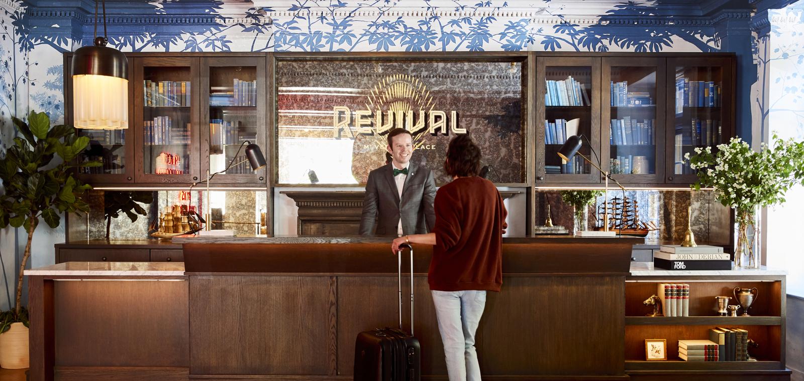 Hotel Revival Front Desk Check In