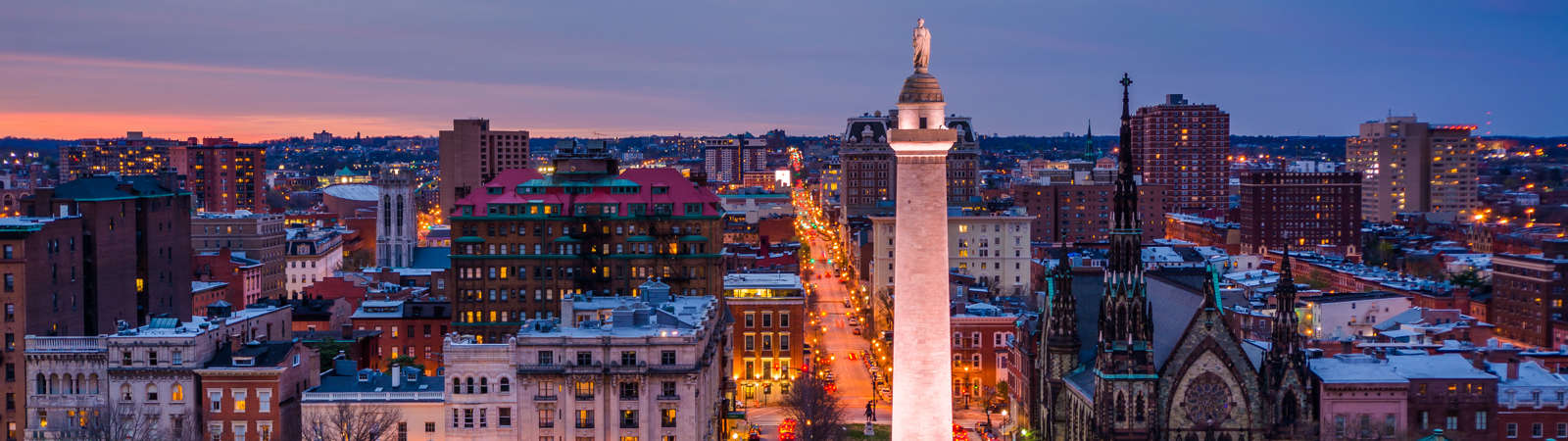 Top Of Washington Monument In Mount Vernon Place Baltimore