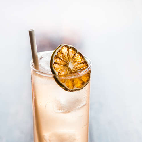 Soju Paloma - soju, Avion silver tequila, grapefruit, lime, salt, soda, dehydrated lime wheel